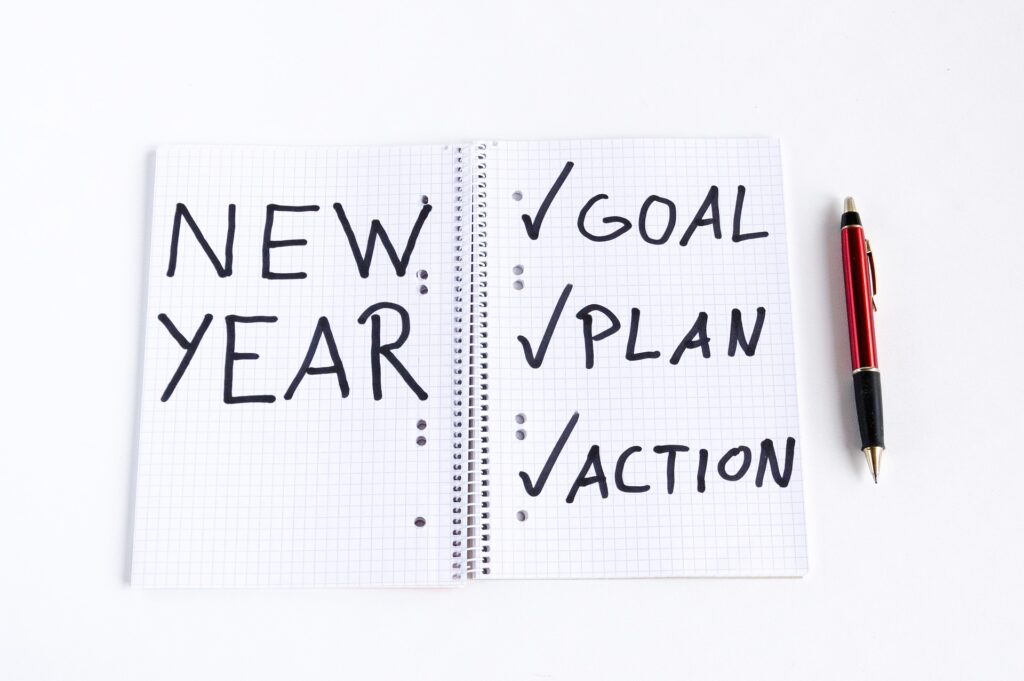 """New Years """"Goals, Plan Action"""" Planner"""