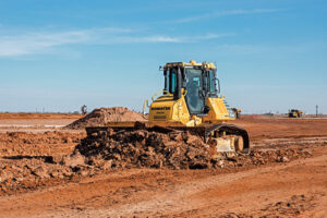 Intelligent Dozers Handle Coarse Aggregate With Ease
