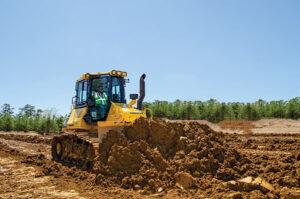 D51pxi dozer pushing dirt