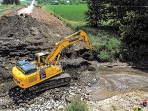 Komtrax excavator