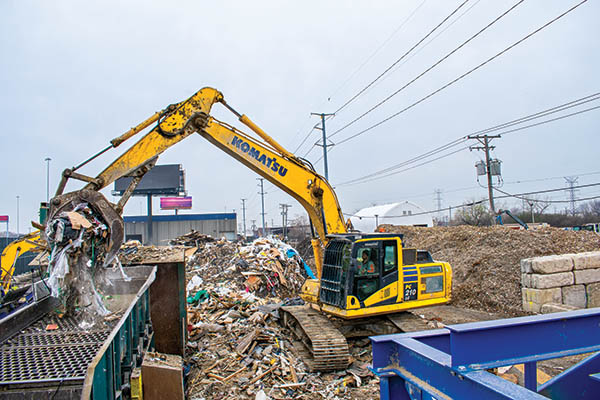 Equipped for success: Excavator with waste package boosts productivity