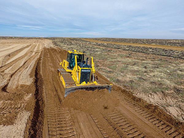 High-tech dozers help reduce pad construction time