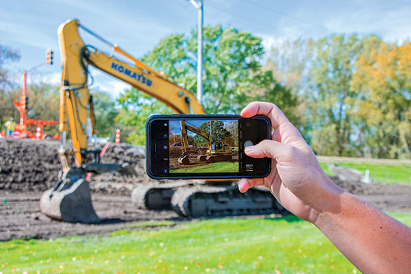Keep visual records of your jobsites for progress, legal purposes
