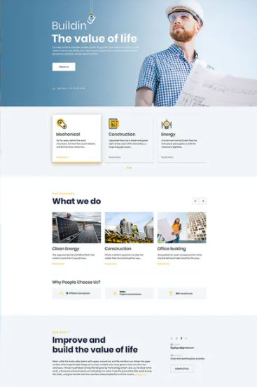 websites for construction