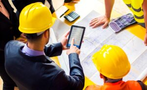 How do you calculate labor productivity in construction