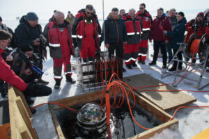 Underwater Telescope Hunting Ghostly Particles from Space