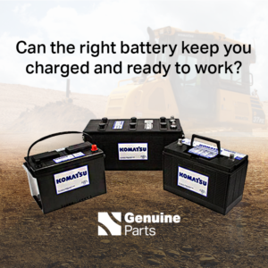 Komatsu Batteries Are Powerful and Durable