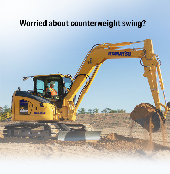 Read more about the article Worried about counterweight swing? PC88MR-11 gives you high production in tight quarters