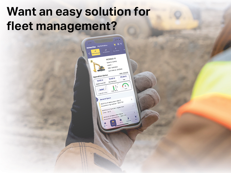 Read more about the article My Komatsu: An easy solution for fleet management