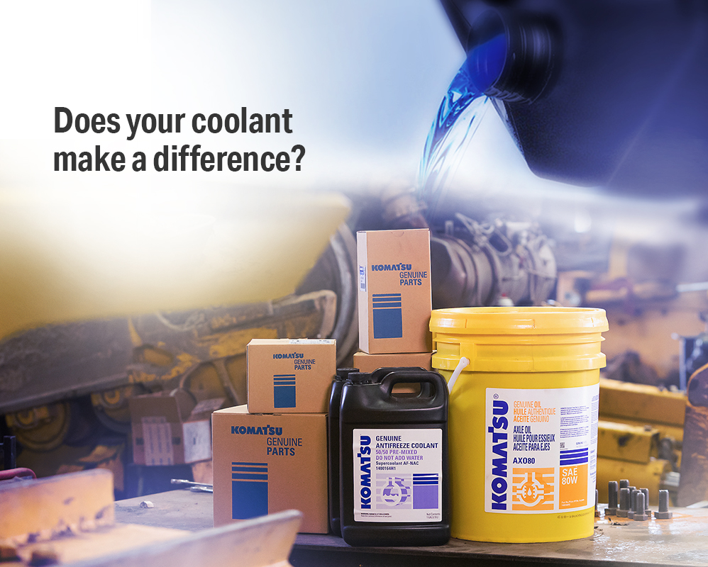 Read more about the article Komatsu Supercoolant helps ensure maximum performance
