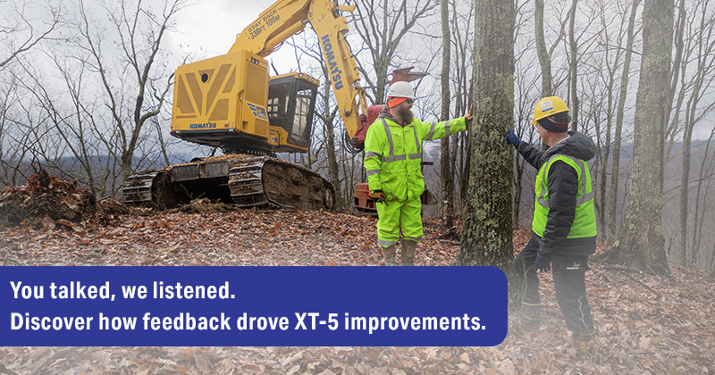 Read more about the article XT-5 Series of Tracked Feller Bunchers: Discover how feedback drove improvements